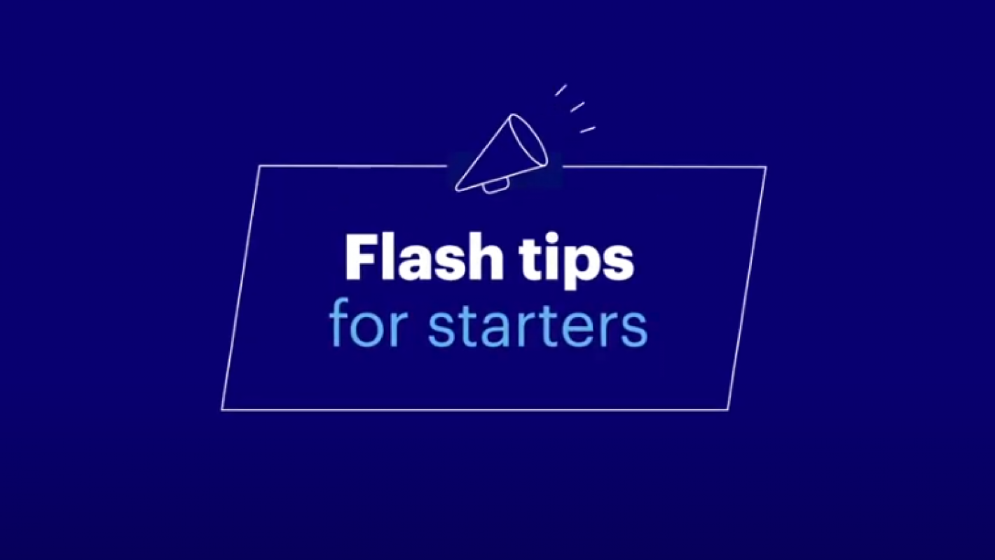Flash tips for starters